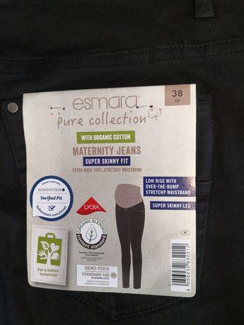 SPODNIE CIĄŻOWE NOWE r38 jeansy skinny M czarne