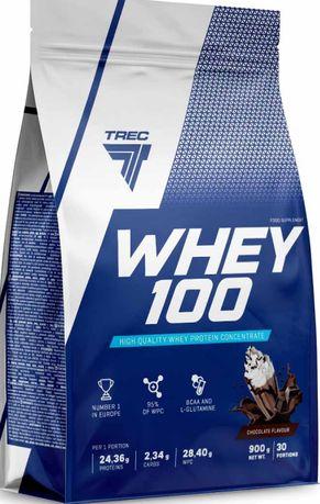Trec Whey 100 WPC 900g Różne Smaki ! Białko Odżywka Białkowa