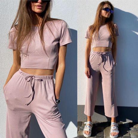 Костюм летний топ + брюки кюлоты