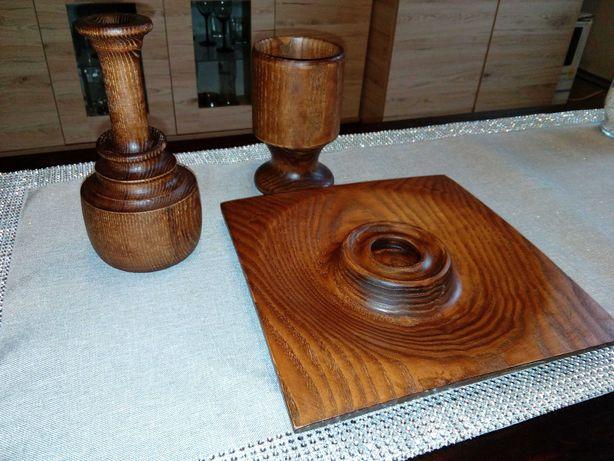 Toczone ozdoby z drewna
