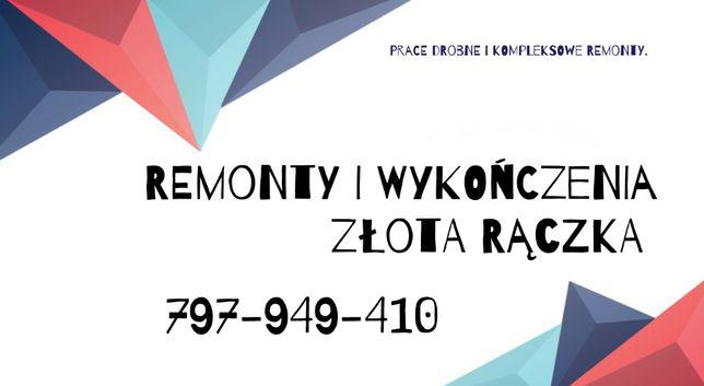 Remonty Kraków - Malowanie Gładź Panele Elektryka Beton - Złota rączka