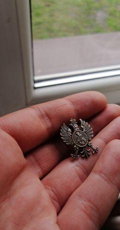Orzeł orzełek w koronie na czapkę II 2RP przedwojenny
