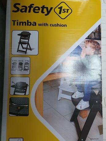 Safety1 Timba krzesełko drewniane do karmienia dziecka.  Nowe