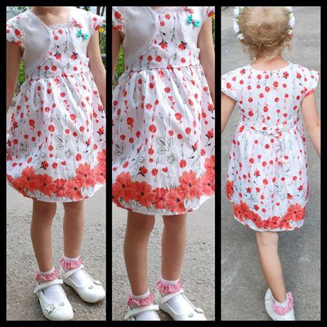 Платье с макоми мак до 92 / 98 см