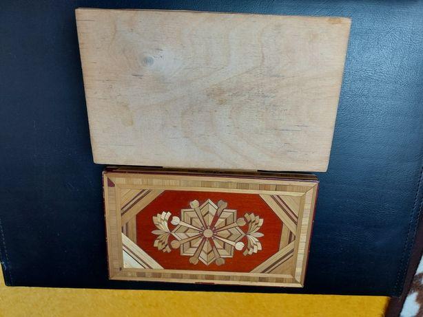 Pudełko drewniane Cepelia PRL
