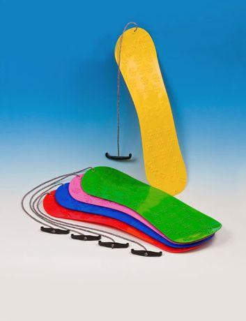 Ślizg zjazdowy plastikowy SNOWBOARD dziecięcy mix kolor