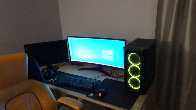 Komputer do gier RTX 2060 Super I5 1060 Monitor 144 HZ 34 cali w cenie