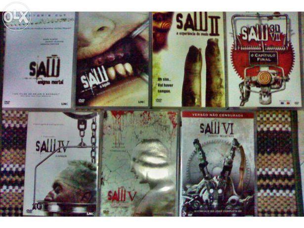 SAW 6 dvd e 1 Bluray 3D. SÓ o Conjunto 7 Filmes Coleção Completa.