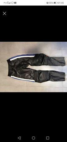 Skórzane spodnie motocyklowe damskie 38