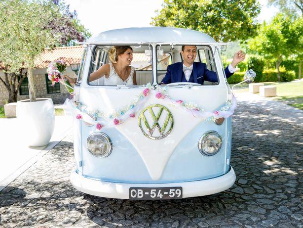 """Aluguer de carro clássico - VW """"Pão de Forma"""" transporte em casamento"""