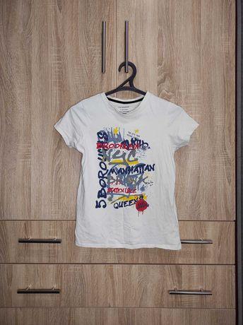 футболка с рисунком белая цифры надпись