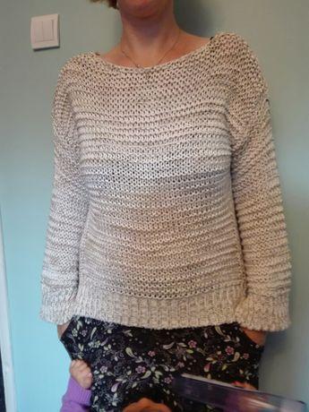 Sweter Zara M dziergany 38