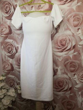 Sukienka biała hiszpanka 44