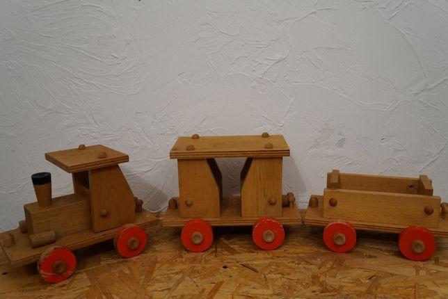 Zabawka ciuchcia z czasów Prl Designe Vintage