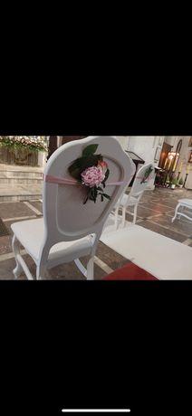 Klecznik krzesla slub kosciol dekoracja para mloda