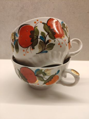 Чашки чайные росписные советские винтаж