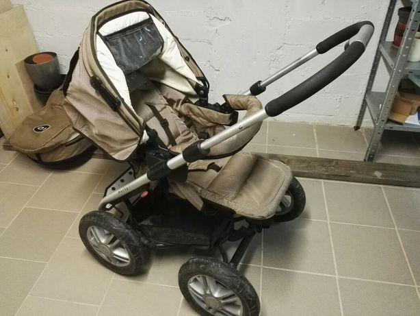 Wózek 3w1 Mutsy 4 rider, gondola, spacerówka, fotelik, śpiworek, adapt