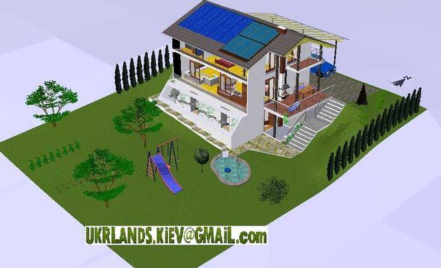 Проект дому, теплоефективного. Ескізи, будівництво, ландшафт, полив