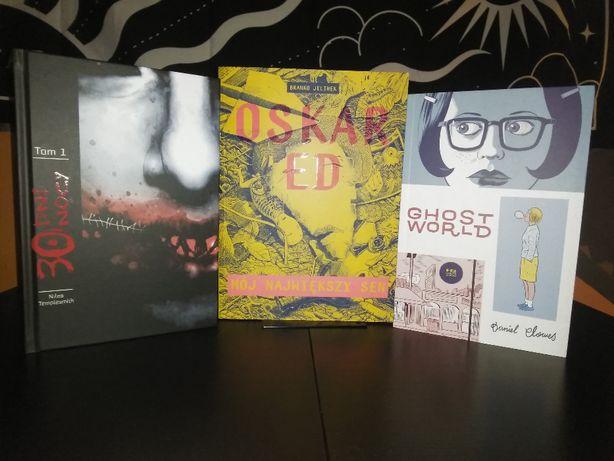 3 Komiksy - 30 Dni Nocy, Ghost World, Oskar ED
