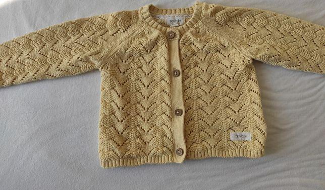 Sweterek newbie żółty 80