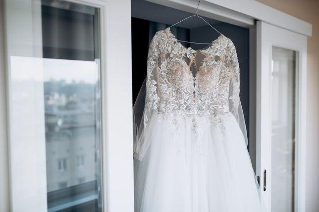Набор: свадебное платье, накидка,халат,весільне плаття, весільна сукня