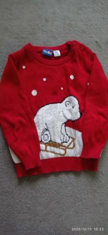 Sweterek świąteczny dla chłopca firmy Lupilu-86/92
