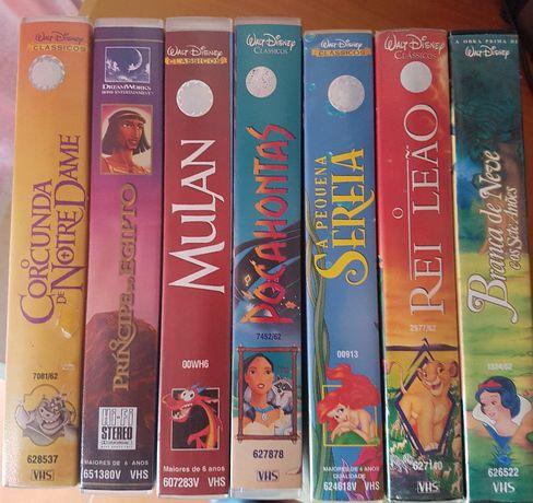 7 Cassetes VHS Originais Impecáveis