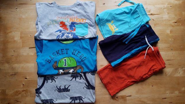 116-122 SPODENKI C&A szorty H&M KOSZULKA Cool Club t-shirt bluzeczka