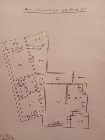 Продается квартира в центрально-городского района 4-х комнатна 2/9