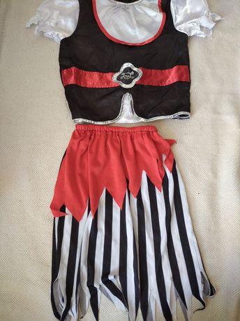 Пиратка 7-8 лет 122-128 см костюм карнавальный пират