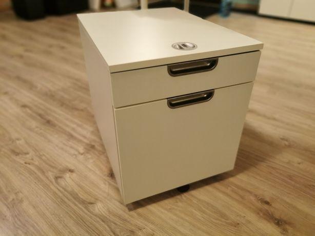 Szafka / Komoda na kółkach IKEA Galant biała idealna do biura