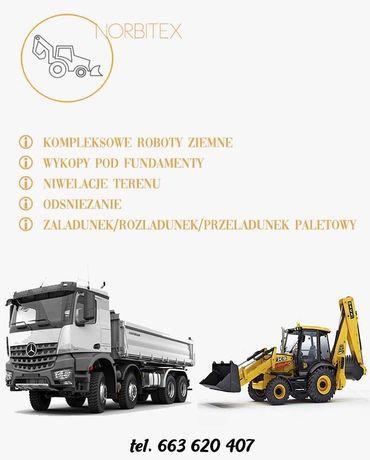 Usługi ziemne koparko ładowarką/transport