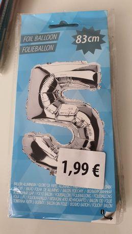 Balon foliowy 83cm cyfra liczba 5