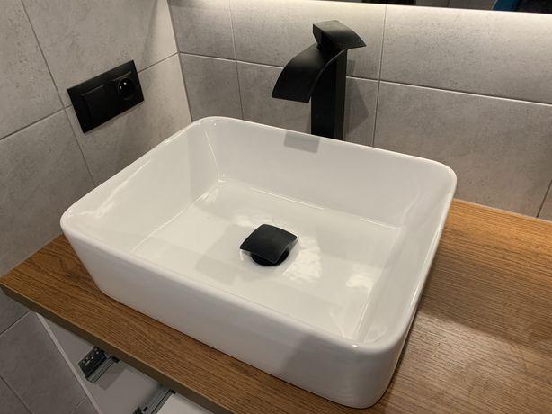 VELDMAN ceramiczna umywalka nablatowa cubic 48x37