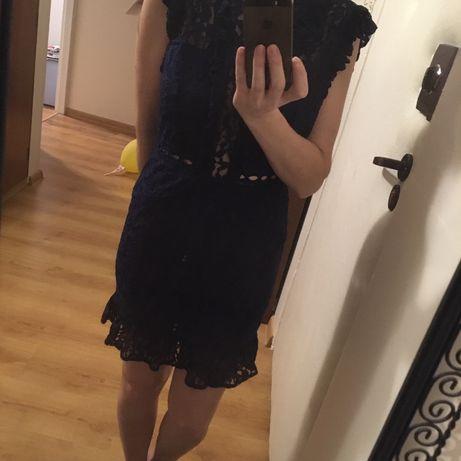 NOWA koronkowa sukienka granat Top Secret r 38