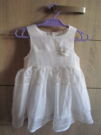 Sukienka H&M na chrzest, roczek 80