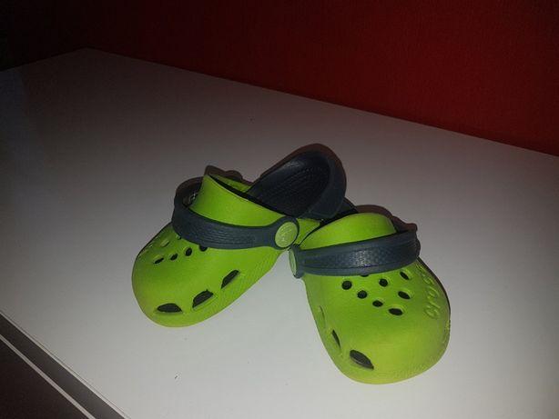 Детские клоги Crocs C6 зеленые сабо на мальчика