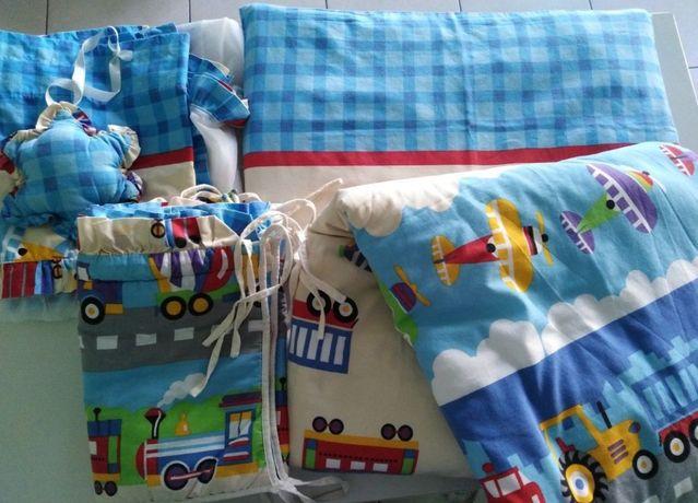 Pościel dla chłopca 4 cz pojazdy autka + kołdra i poduszka