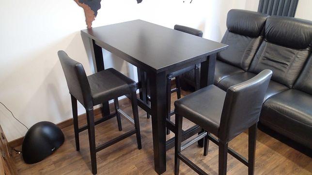 OKAZJA!!! Stół Stornas + hokery skórzane Henriksdal TANIO!!! Ikea