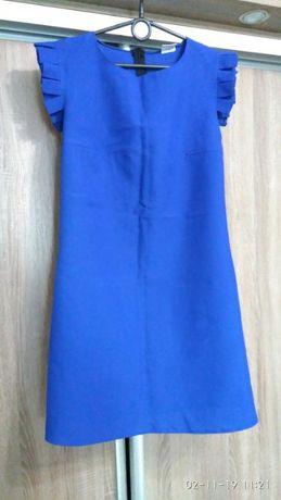 Мини платье синее