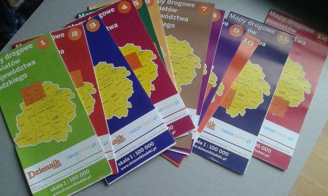 mapy turystyczno - rowerowe regionu łódzkiego