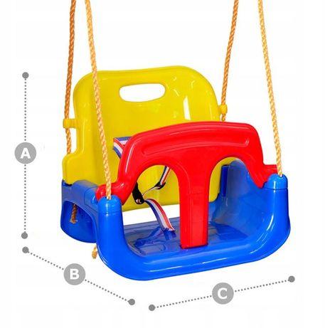 Качели для детей до 7-13 лет - большие, съемная спинка, защита, стол