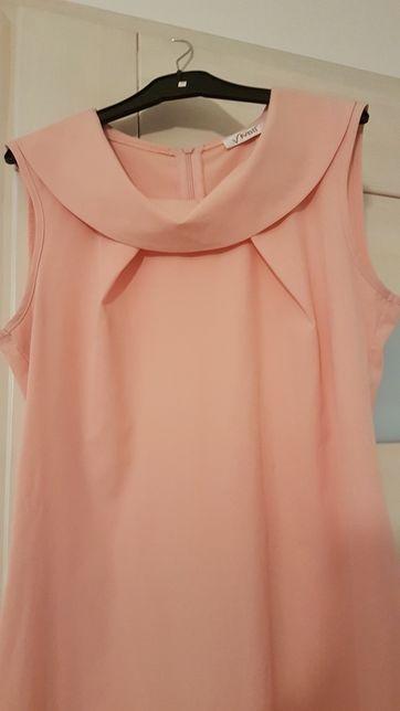 Sukienka pudrowy róż rozm. M 38
