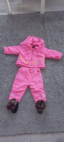 Komlet zimowy r80 Kurtka spodnie i buty