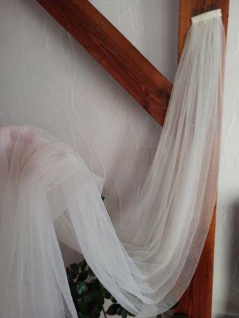 Welon ślubny biały tiul 190 cm