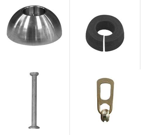 akcesoria do bloków i form, bolce, magnesy, gumy, uchwyt kulowy