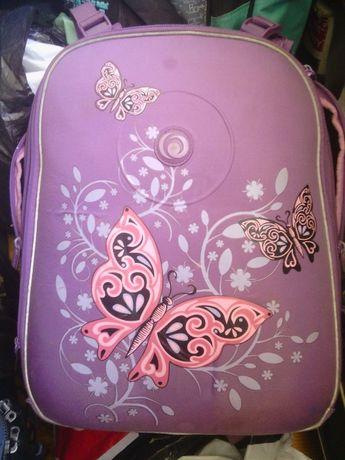 Девочке Детский школа рюкзак ортопедическая спинка Herlitz Butterfly
