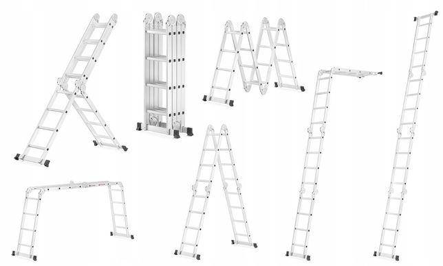 Лестница Драбина Алюминиевая Трансформер, Шарнирная Aloft 4х4 , 4х3