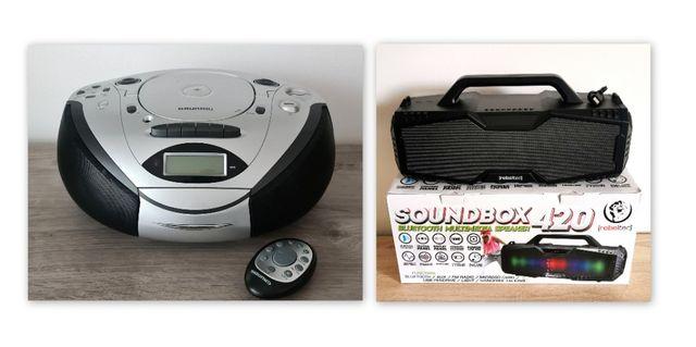 komplet Radiomagnetofon USB Grundig + Głośnik Bluetooth Rebeltec