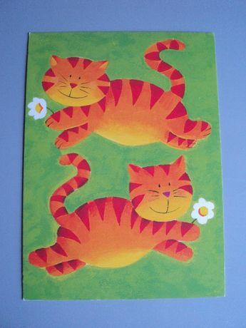 открытка кот кошка валентинка 14 февраля Англия